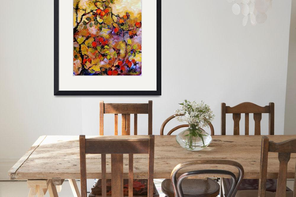 """""""Rosehips Modern Impressionism Oil Painting&quot  (2006) by GinetteCallaway"""