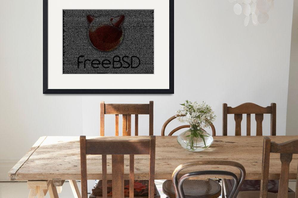 """""""FreeBSD Poster from Source Code&quot  (2010) by 0xfe"""