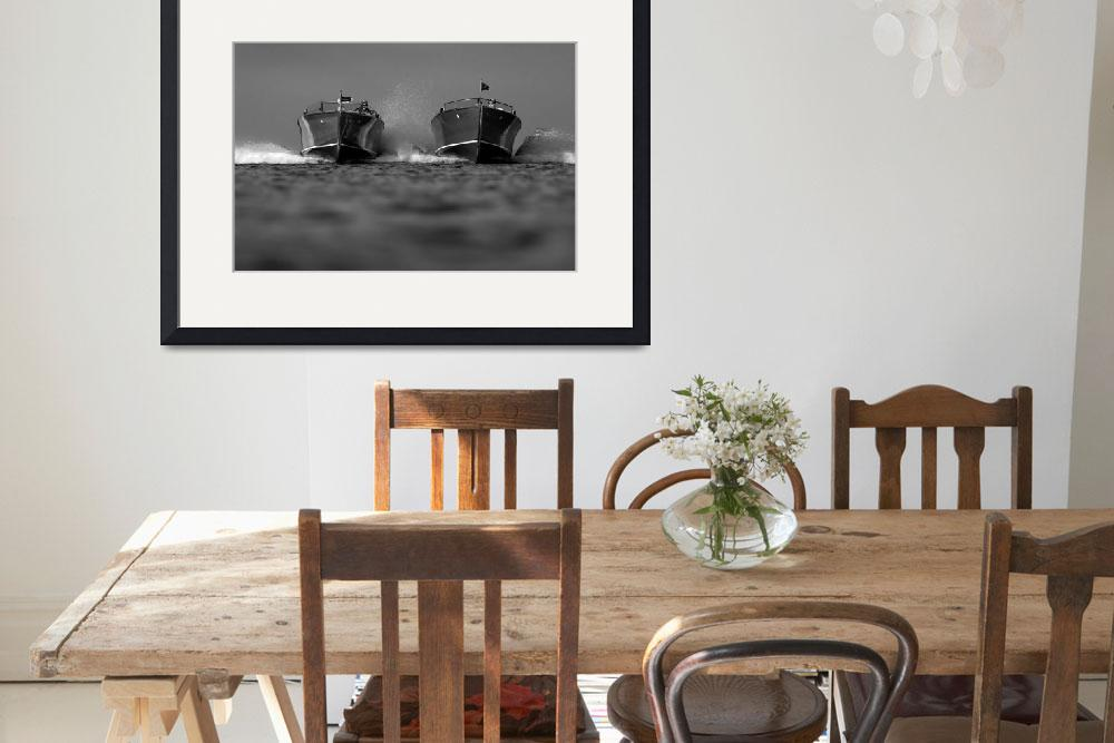 """""""Black & White Series-Wooden Boat 10&quot  by dteetor2"""