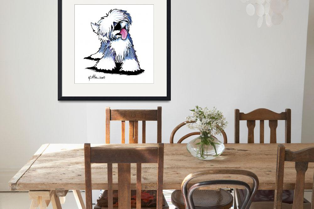 """""""Old English Sheepdog&quot  (2009) by KiniArt"""