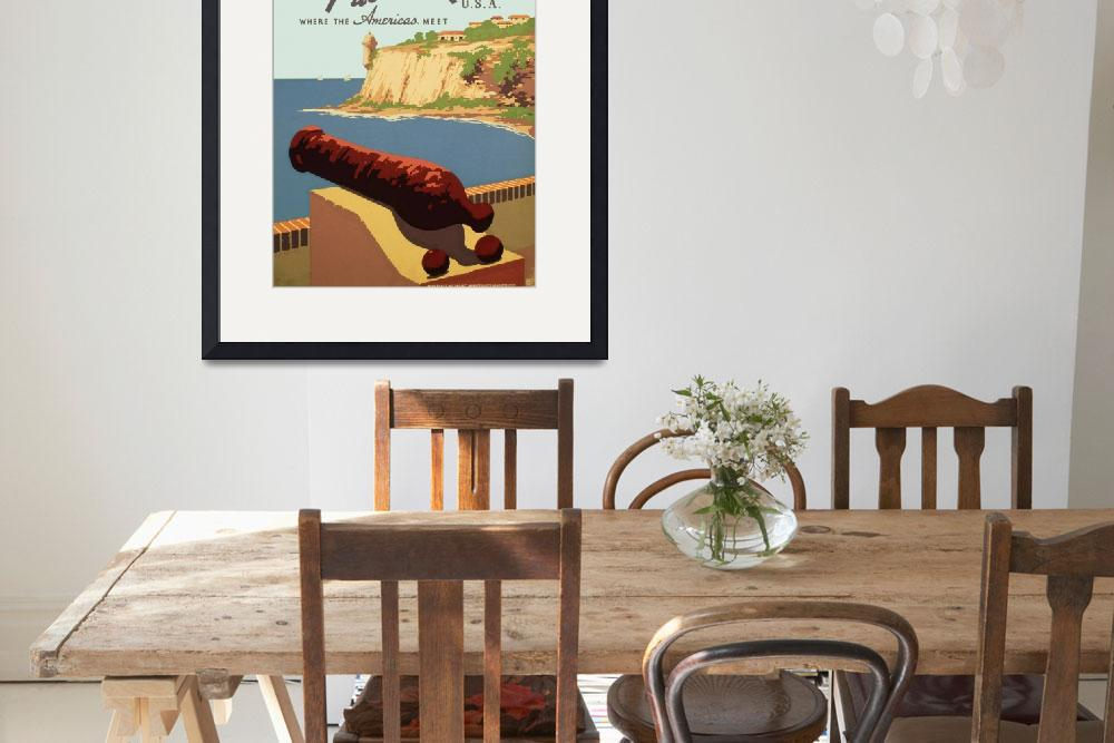 """Discover Puerto Rico Travel Poster""  by Alleycatshirts"