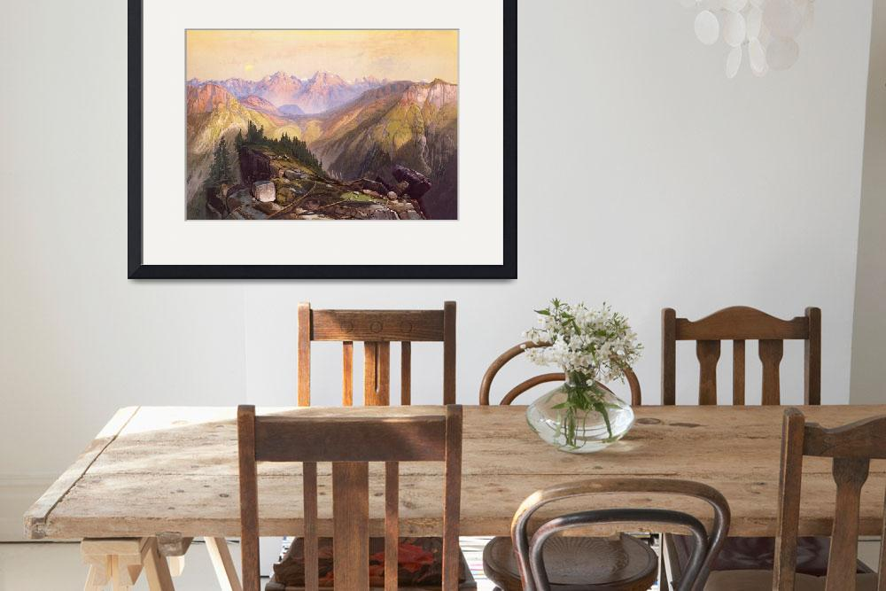 """""""The Lower Yellowstone Range by Thomas Moran&quot  by ArtLoversOnline"""