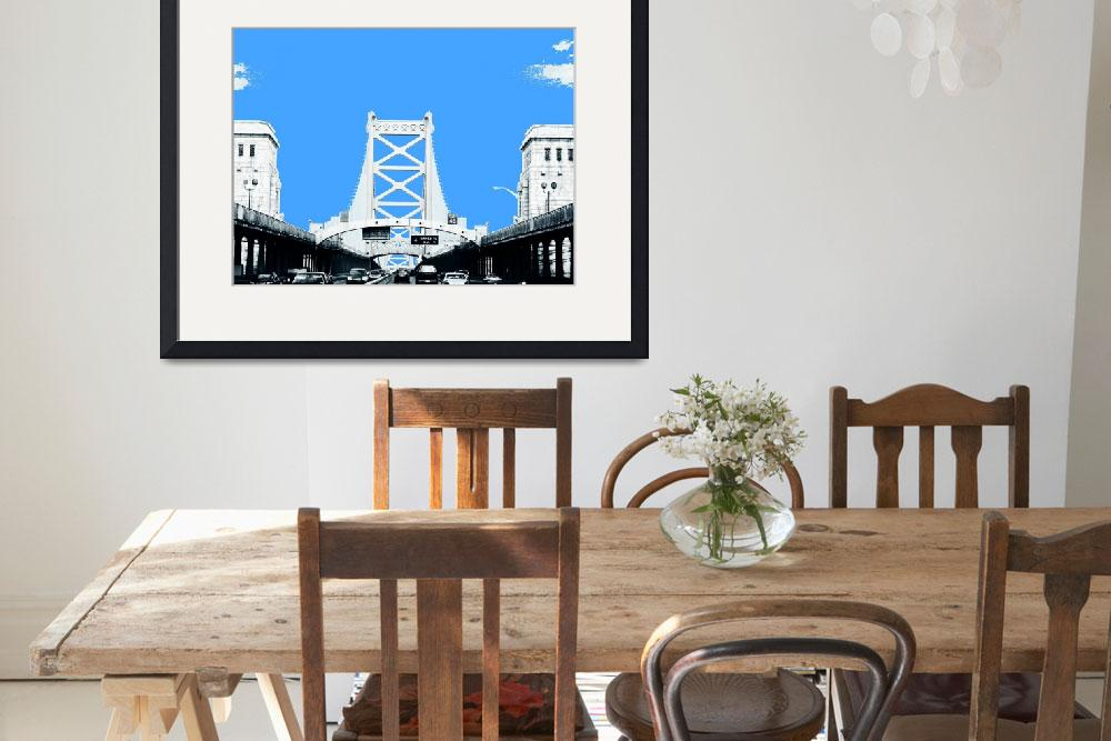 """Ben Franklin Bridge&quot  by Groovyal"