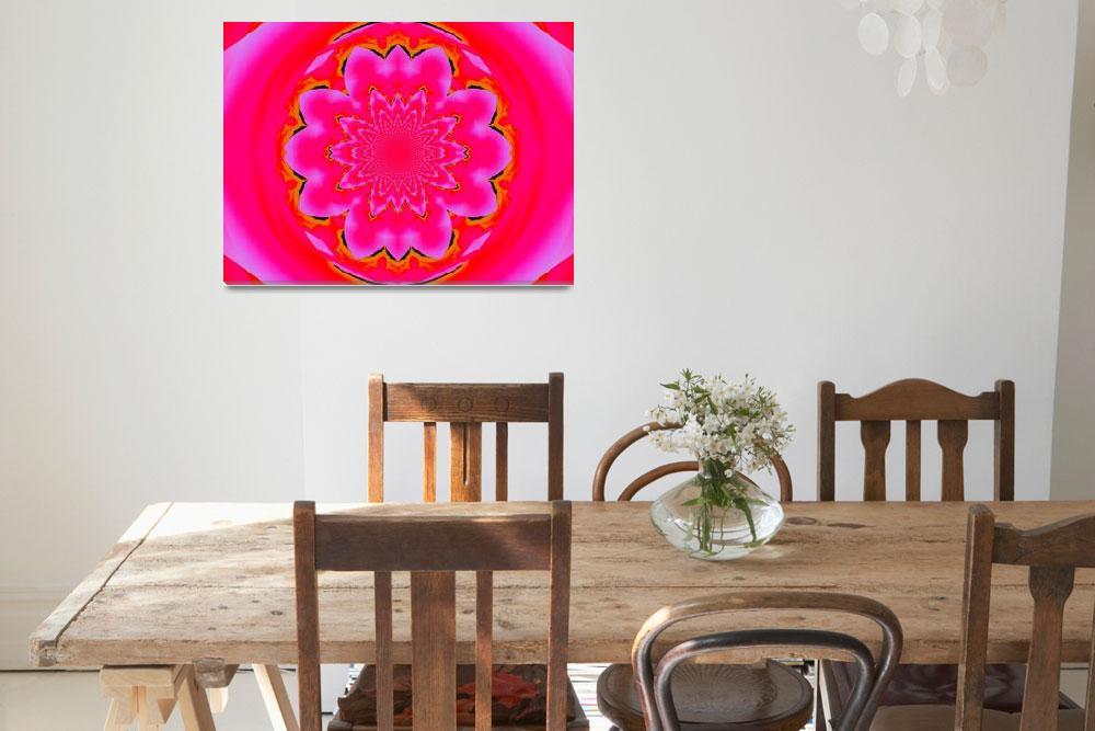"""Calm Pink Lotus Mandala  2&quot  by Atlantis-Seeker-Art"
