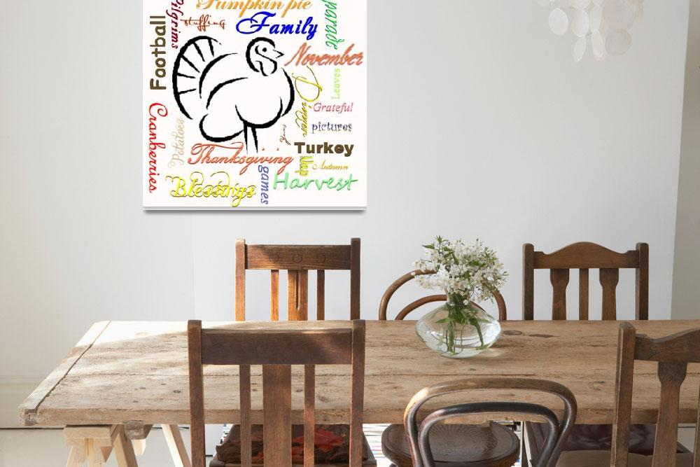 """""""Thanksgiving words&quot  (2013) by lizmix"""