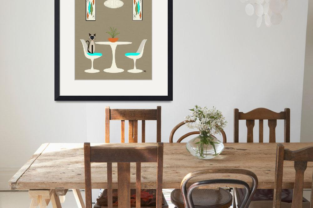 """""""Knoll Table 2 with Siamese&quot  (2016) by DMibus"""