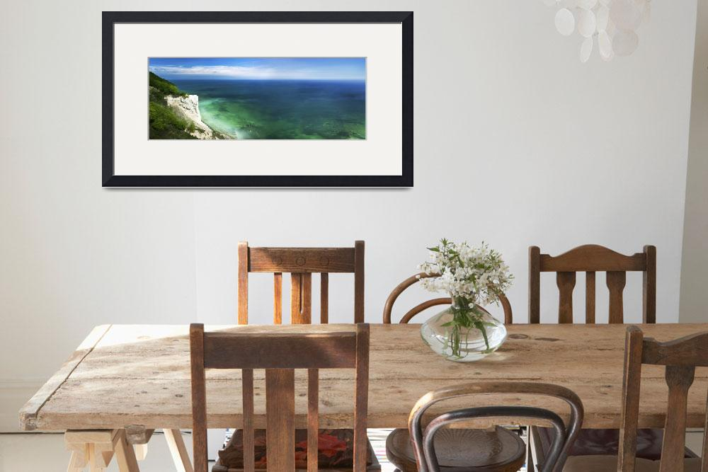 """""""Aerial view of chalk mountain and sea, Mons Klint""""  by stocktrekimages"""