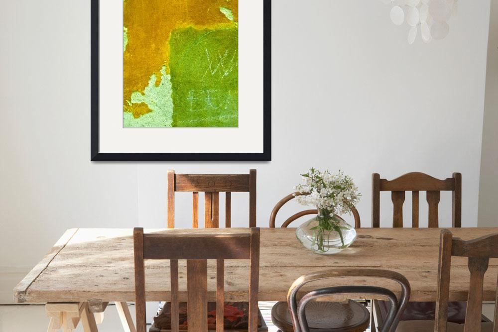 """""""""""Ochre and Green Venice Abstract""""&quot  (2009) by AlexandraZloto"""