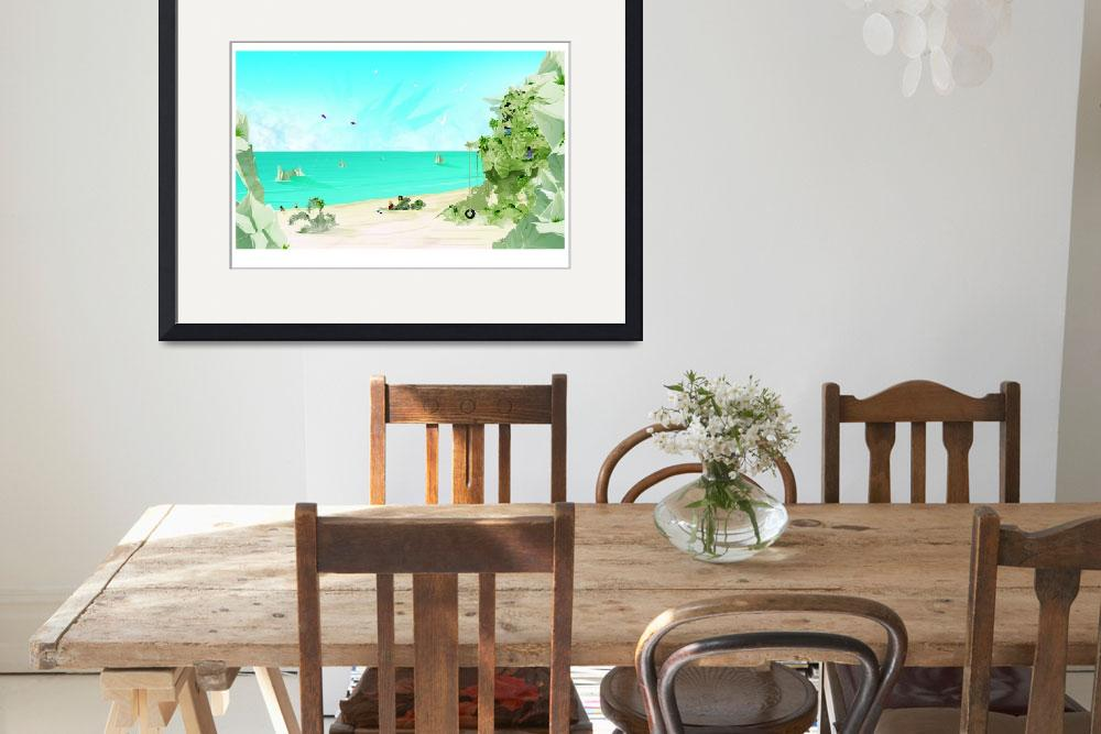 """""""Day at the Beach&quot  (2011) by ChaseArtwork"""