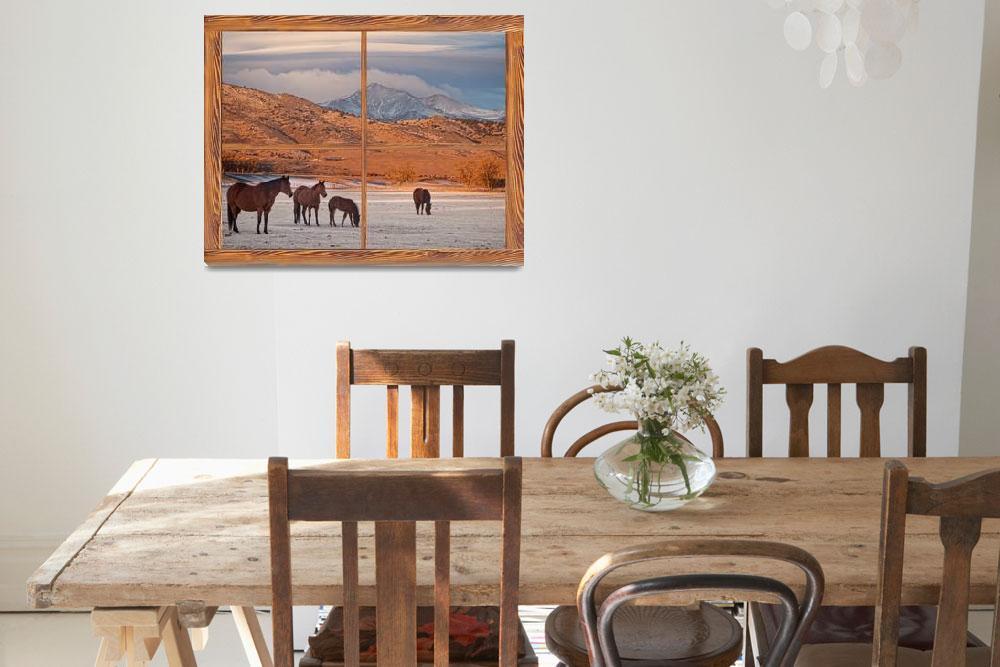"""Rocky Mountain Horses Picture Window Frame Art""  (2013) by lightningman"