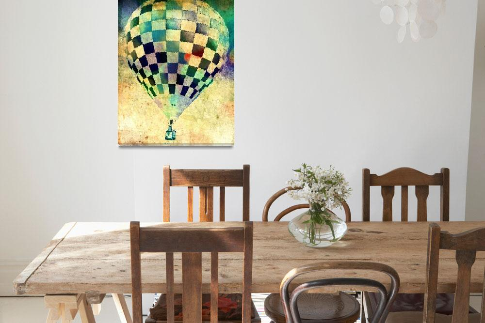 """Hot Air Balloon Checker 9""  (2012) by psovart"