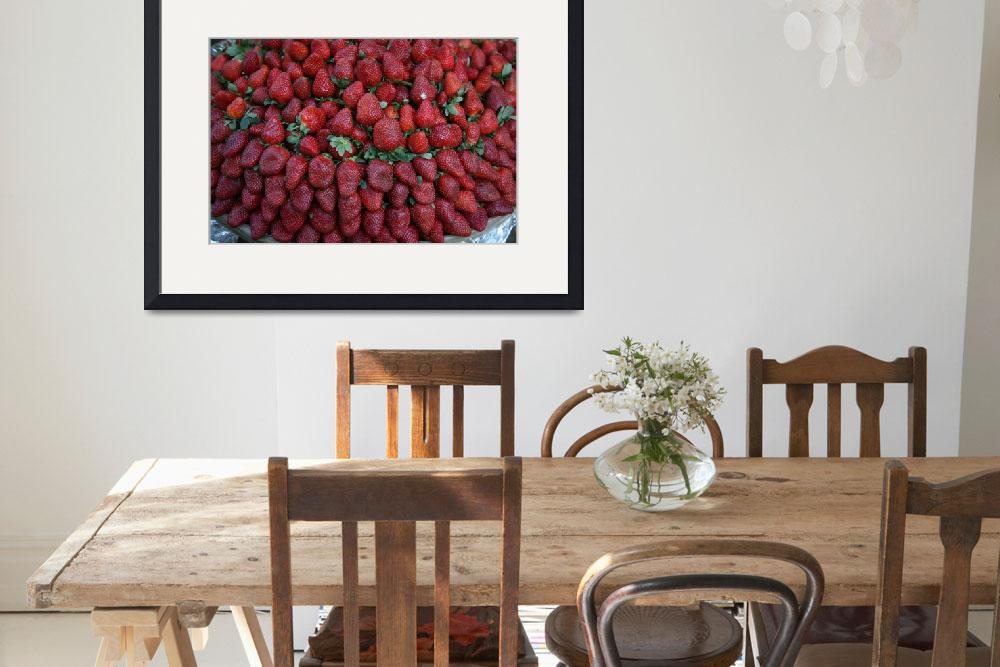 """""""Strawberry Row&quot  (2010) by DonnaCorless"""
