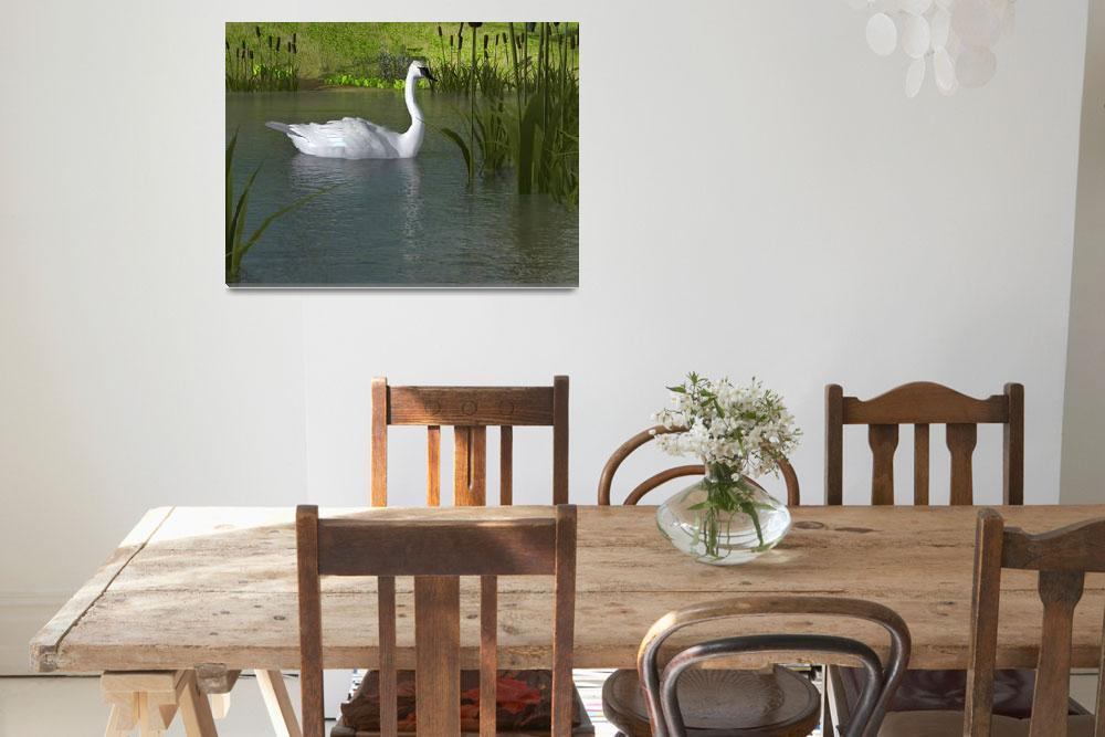 """Swan on Water""  (2014) by walbyent"