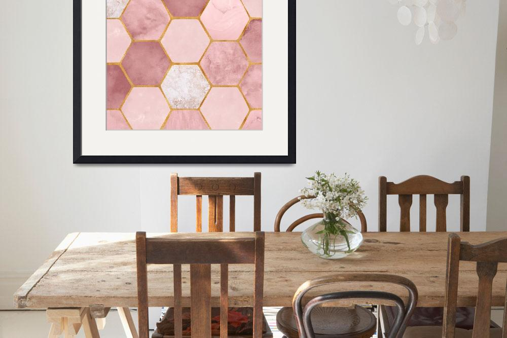 """""""Pink Geometric&quot  (2018) by moderntropical"""