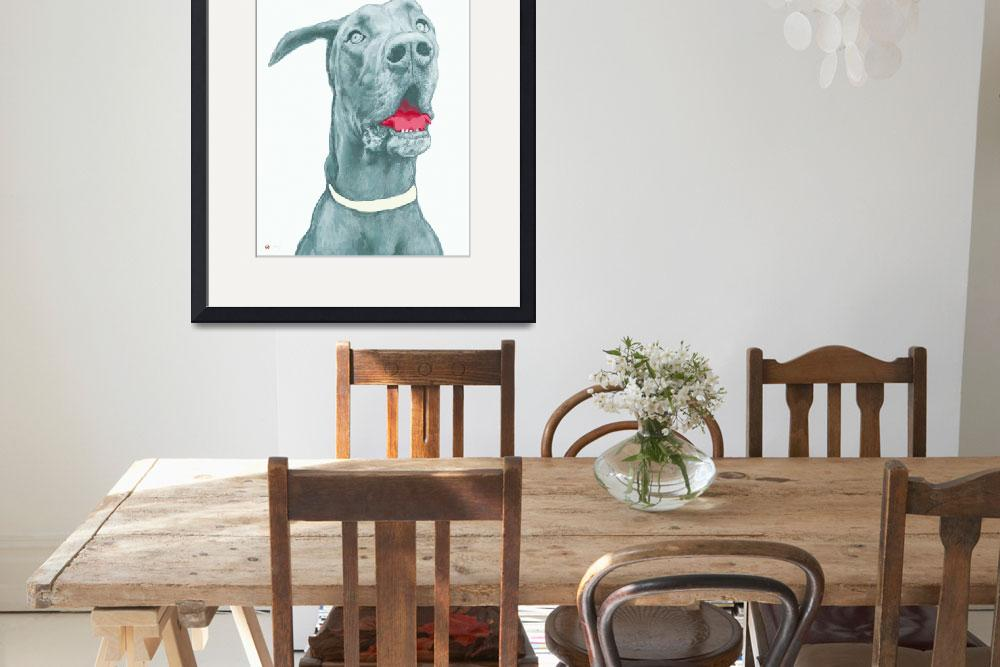 """pop art dog  -  stylised drawing poster""  (2014) by visualharbour"