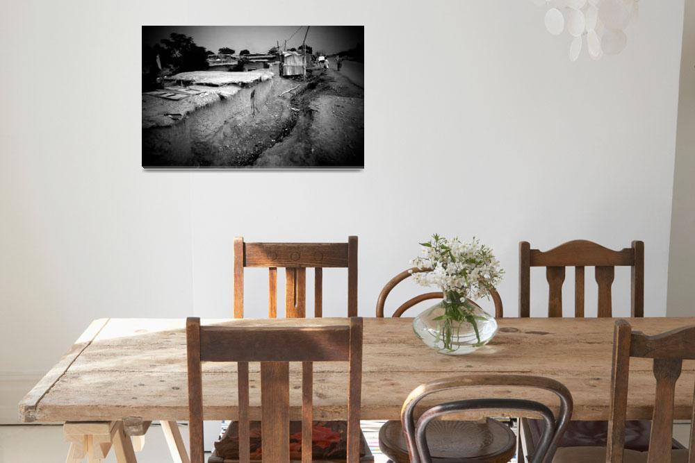"""Fruit Market refugee camp""  (2000) by xlaburu"