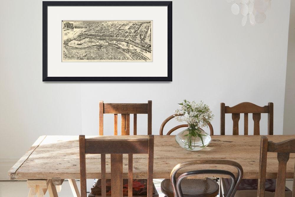 """""""Vintage Map of San Pedro California (1902)&quot  by Alleycatshirts"""