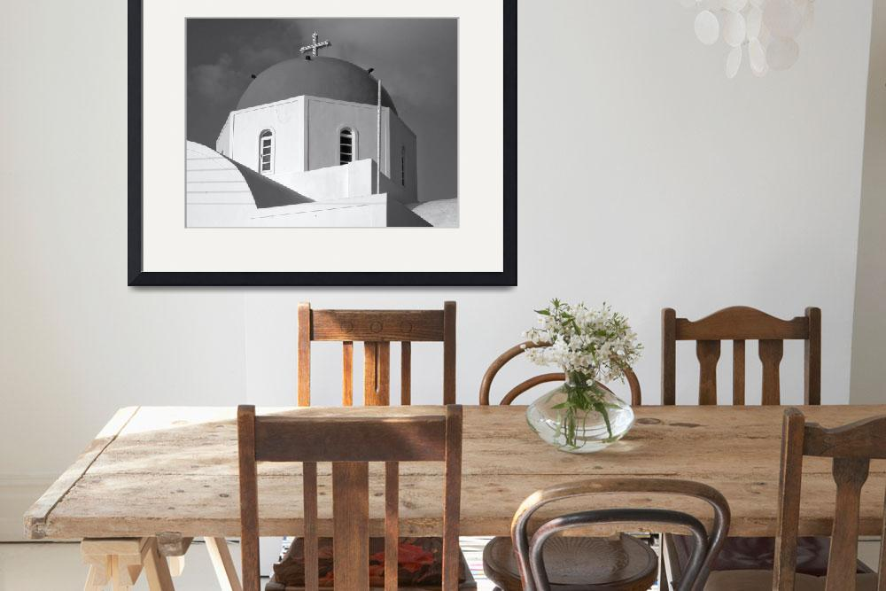 """""""Church #3, Santorini&quot  (2011) by black-and-white"""