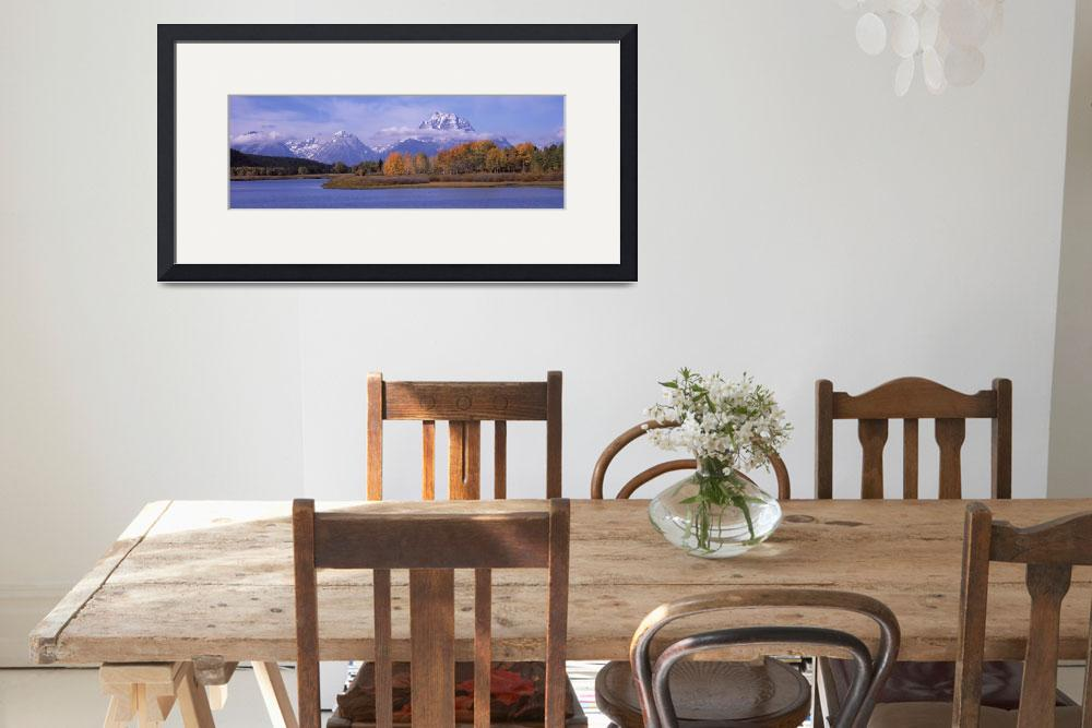 """River with mountains in the background Oxbow Bend&quot  by Panoramic_Images"