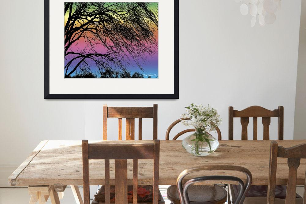 """Weeping Willow Tree Rainbow&quot  (2010) by PhotographsByCarolFAustin"