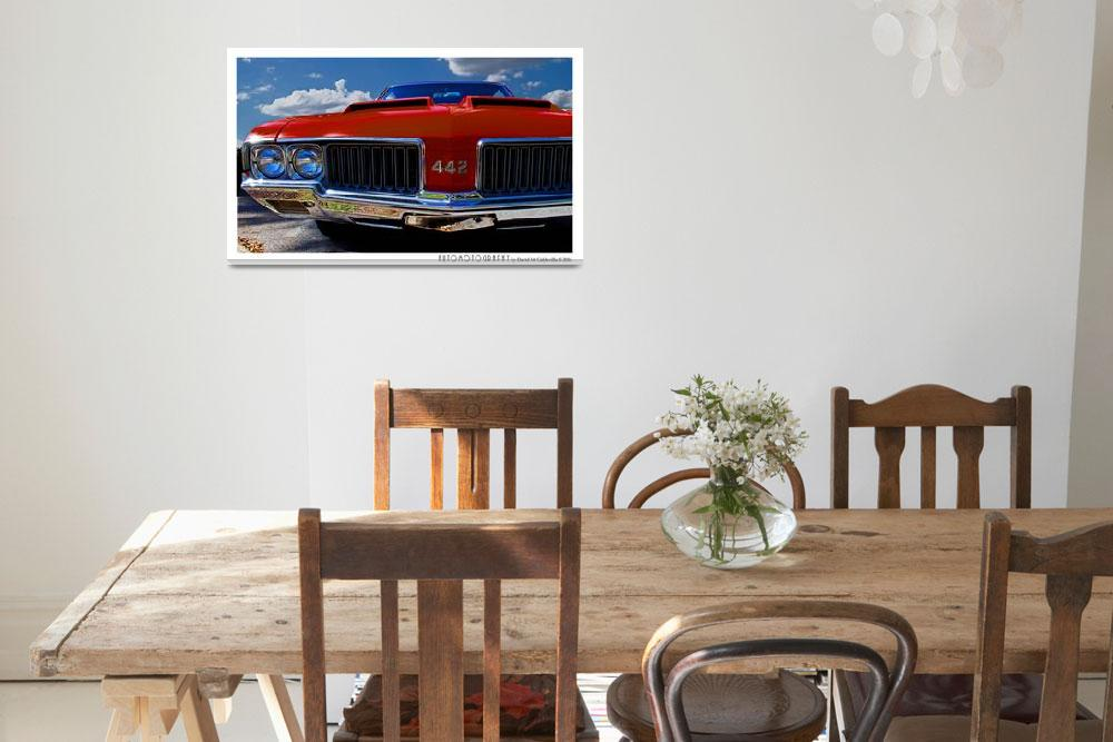 """""""1970 Oldsmobile 442 Color Poster&quot  (2016) by Automotography"""