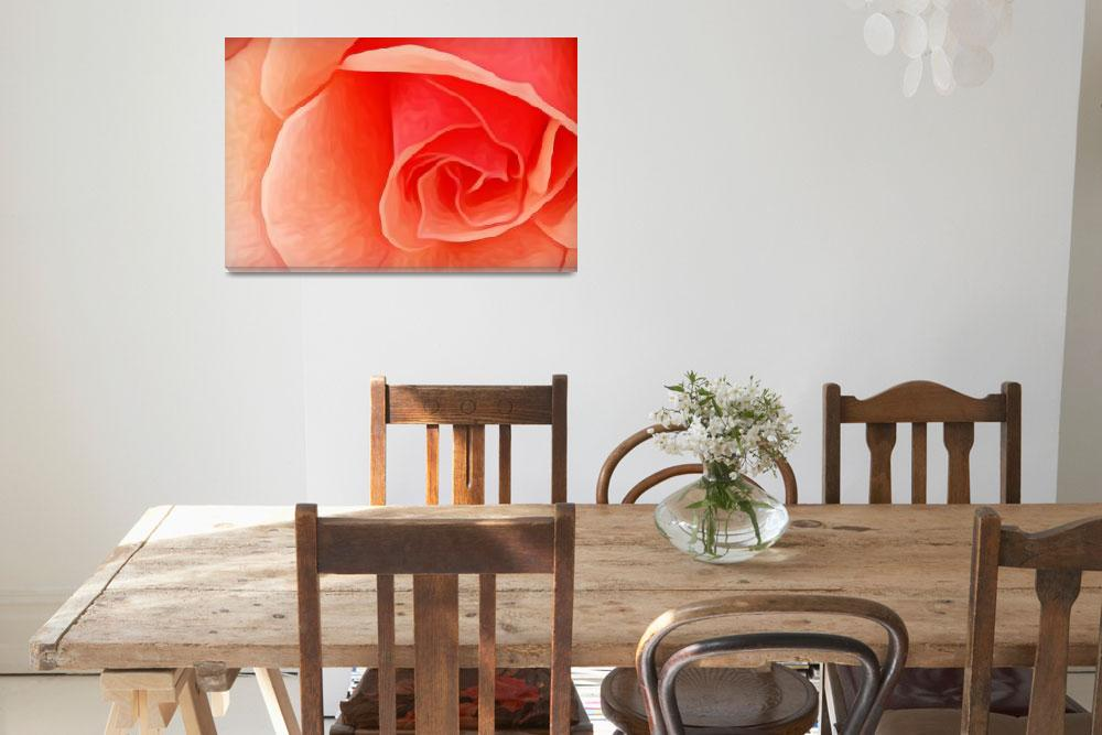 """""""Peach Rose&quot  (2016) by ebethw"""