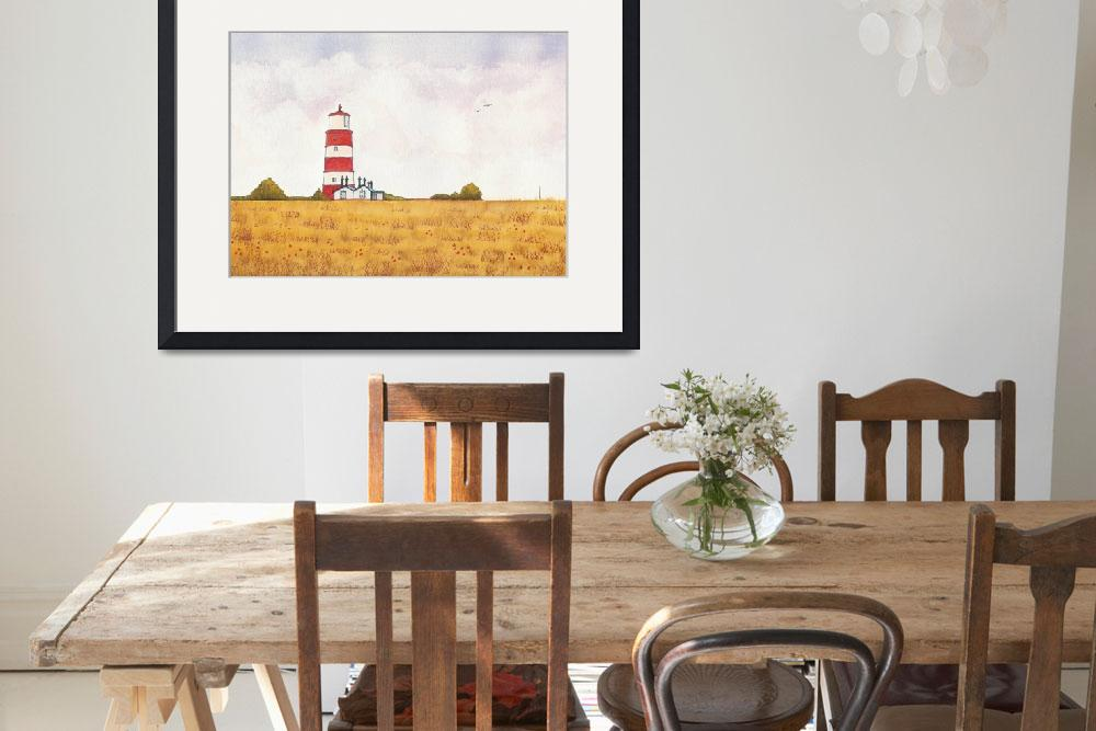 """""""Happisburgh Lighthouse&quot  (2009) by norfolkandsuffolkwaters"""