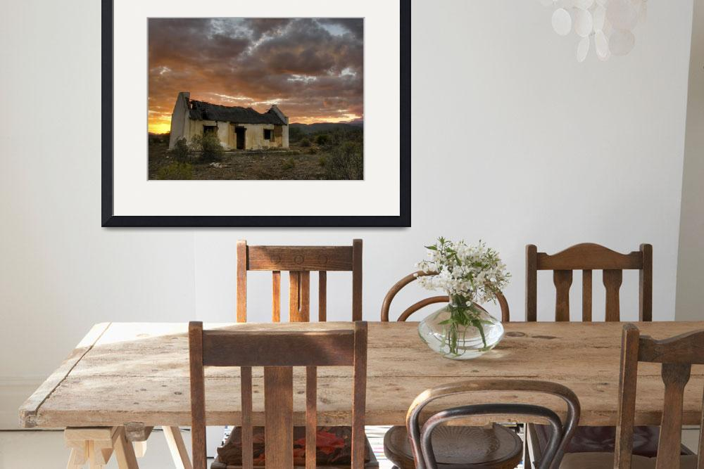 """""""Old Karoo farm house&quot  (2011) by Snaphaan"""