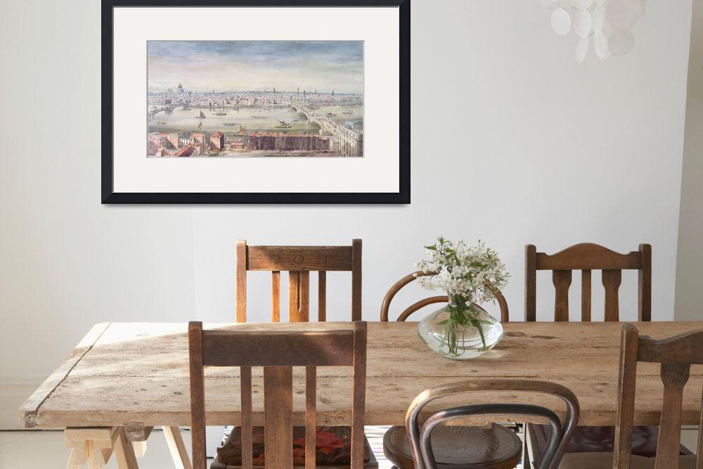 """""""A View of London from St. Paul"""