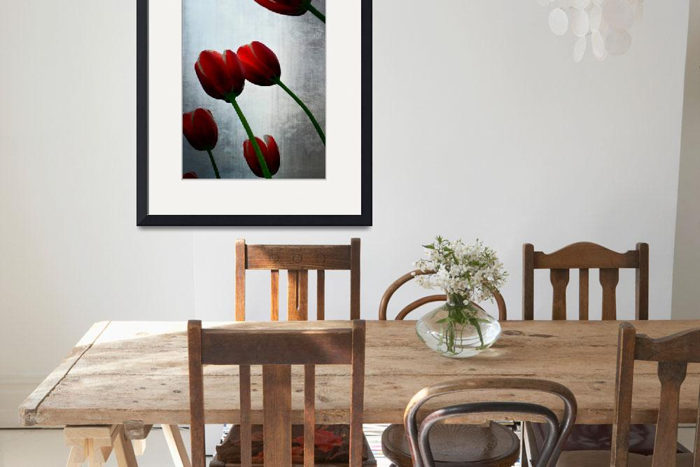 """""""Red Tulips and Grey Sky&quot  (2015) by Michelle1991"""
