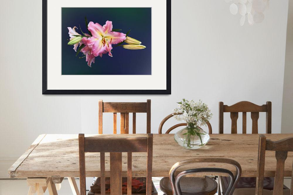 """""""Lovely Pink Lilies&quot  (2012) by susansartgallery"""