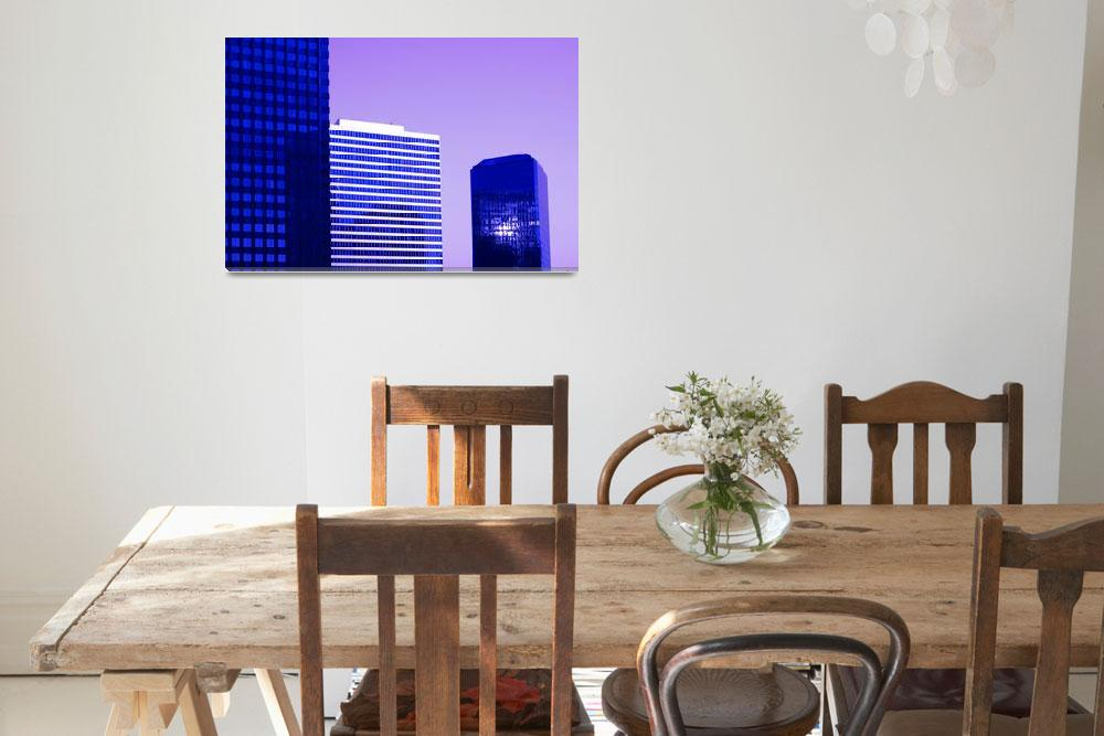 """""""Century City Infrared Office Buildings at Sunrise&quot  (2010) by atonalarts"""