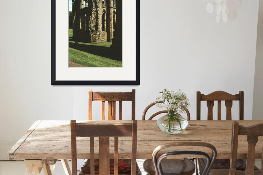 """""""Fountains Abbey in Summer 3&quot  (1990) by PriscillaTurner"""