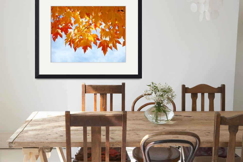 """""""Autumn Sky Bright Yellow Orange Fall Leaves&quot  (2010) by BasleeTroutman"""