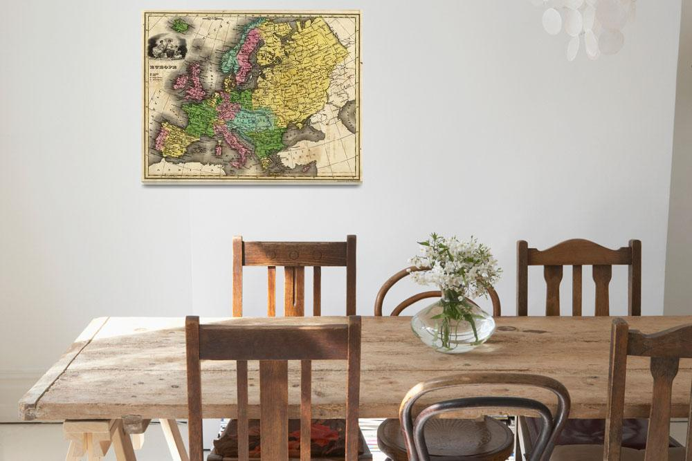 """""""Vintage Map of Europe (1842)&quot  by Alleycatshirts"""