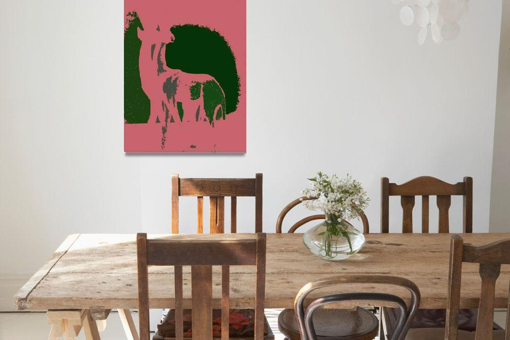 """""""Pink and Green Antelope&quot  (2011) by DavidGal"""