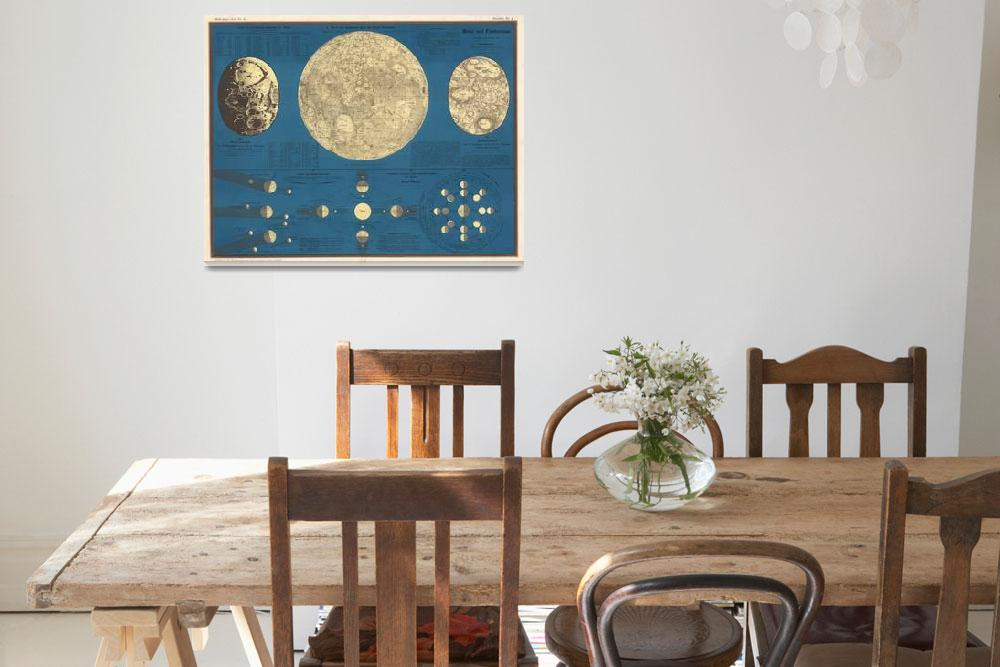 """""""Vintage Map of The Moon (1857)""""  by Alleycatshirts"""