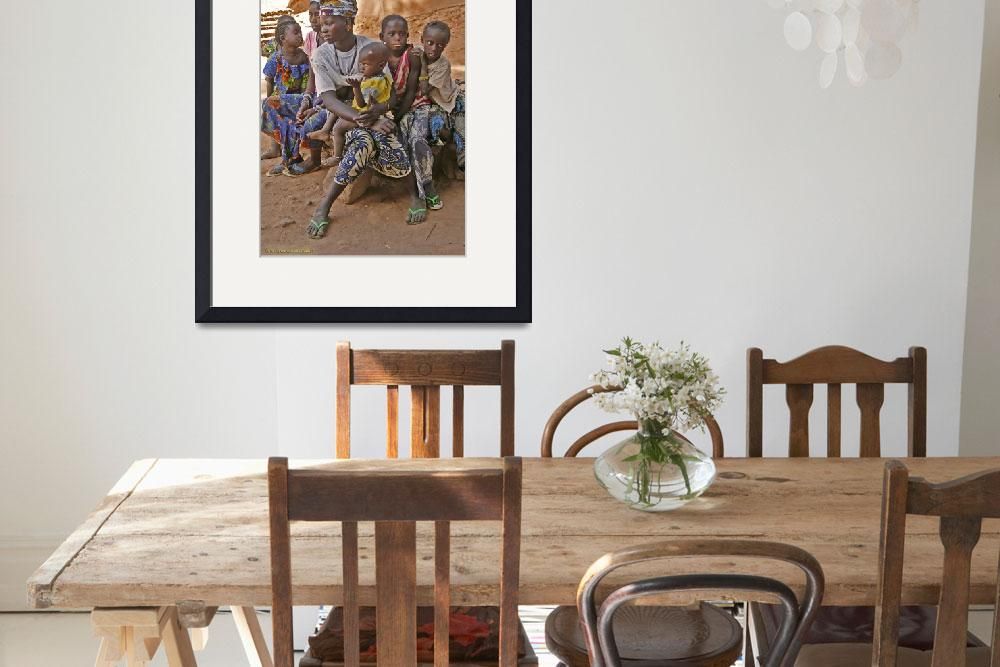 """""""Harem wives 3 and 4 with kids (The Gambia)""""  (2012) by assendelft"""