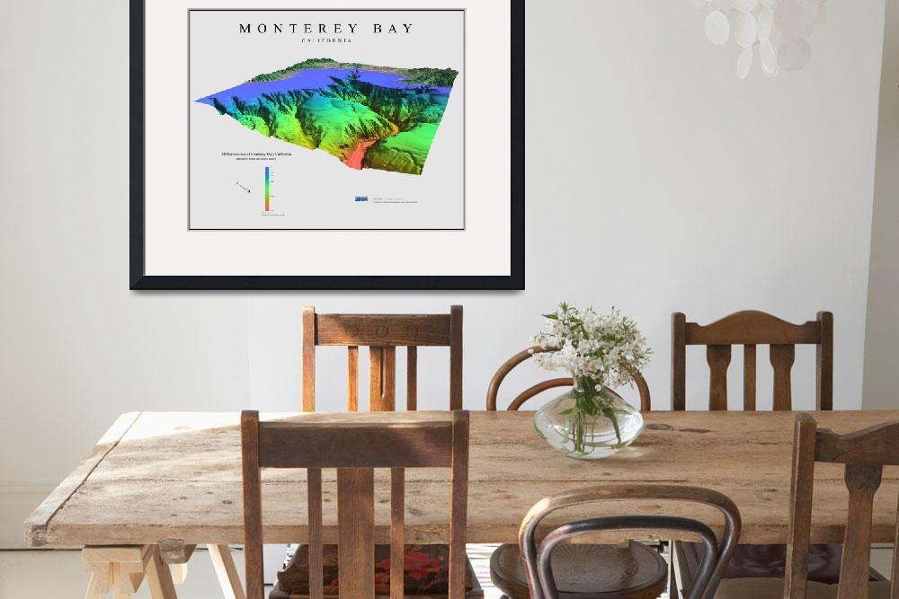 """3D Perspective of Monterey Bay&quot  (2008) by BTMaps"