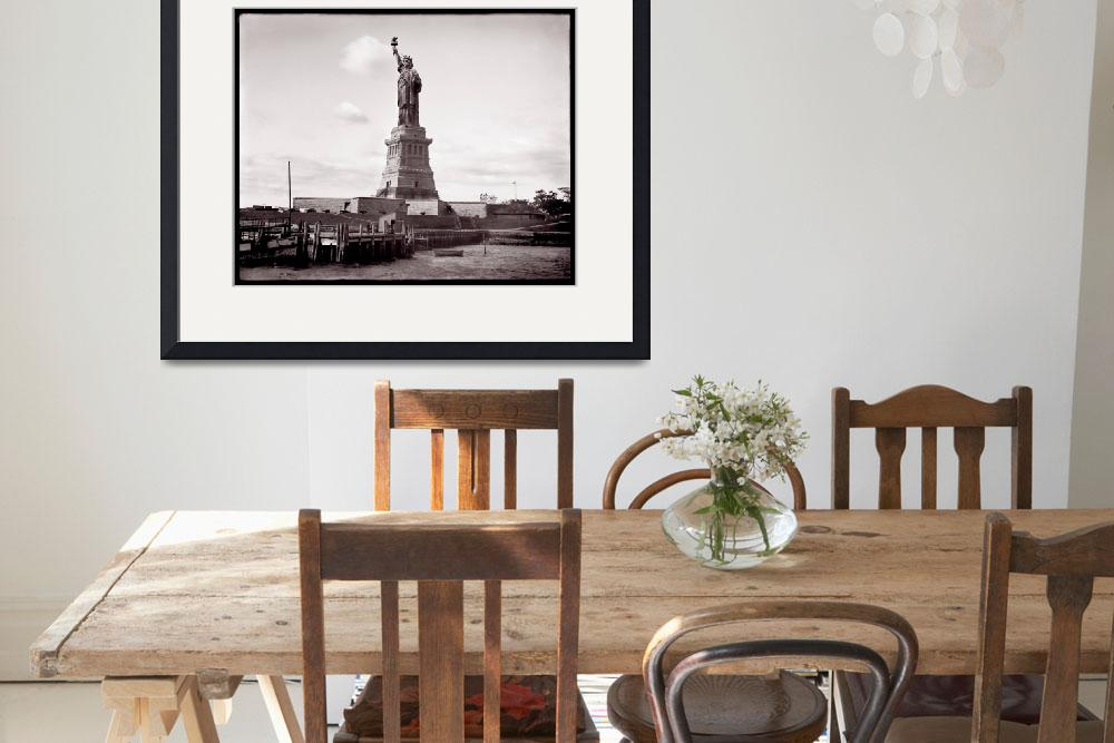 """""""Statue of Liberty c1890-1910&quot  by worldwidearchive"""