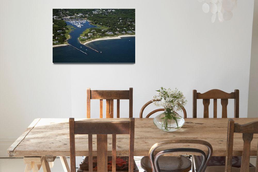 """Saquatucket Harbor Aerial Photo&quot  (2008) by ChrisSeufert"