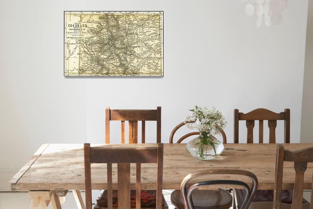 """Colorado Antique Map 1891&quot  (2015) by WilshireImages"