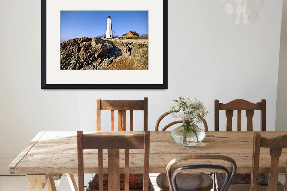"""""""Five Mile Point Light in Connecticut""""  (2008) by New-Yorkled"""
