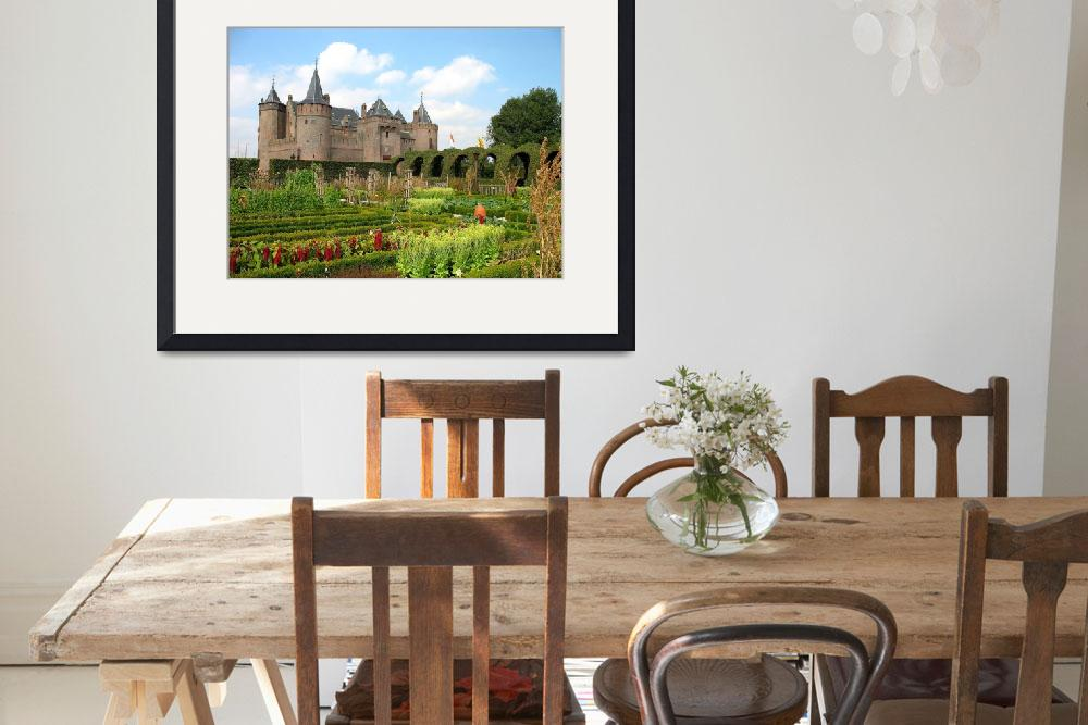 """""""Medieval castle and vegetable gardens in summer.&quot  (2007) by edmondholland"""