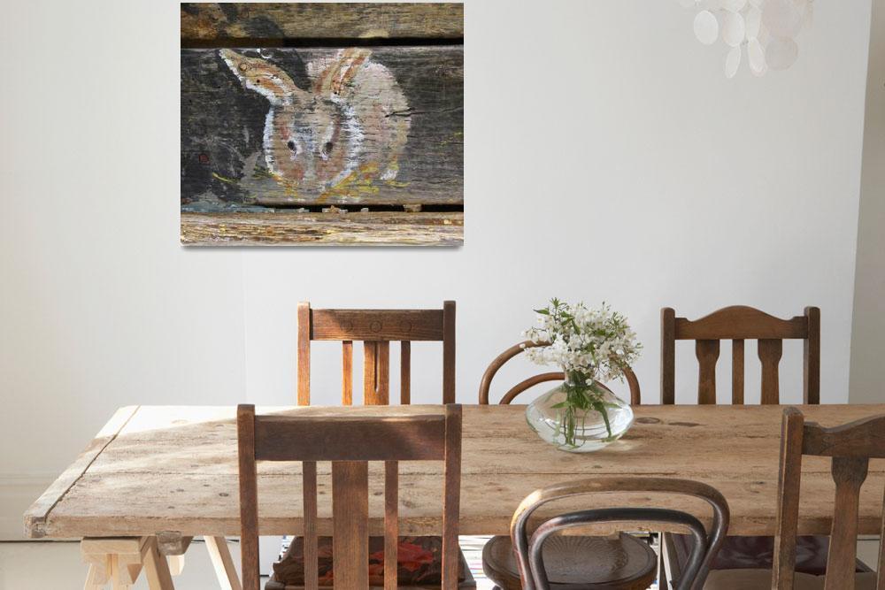 """Barn Art Bunny&quot  (2018) by AppleCoreStudio"
