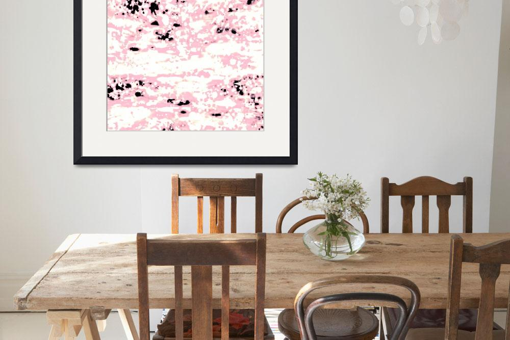 """Abstract Lava Pattern In Light Pink And White""  by GittaG74"