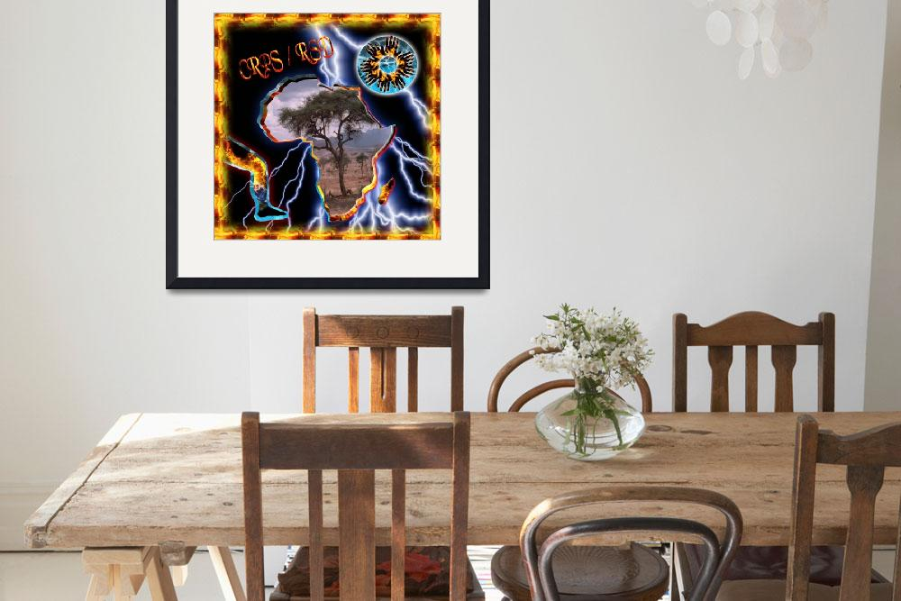 """""""CRPS South Africa Fire & Ice Starburst Flame Frame""""  (2010) by Samantha_Adcock"""