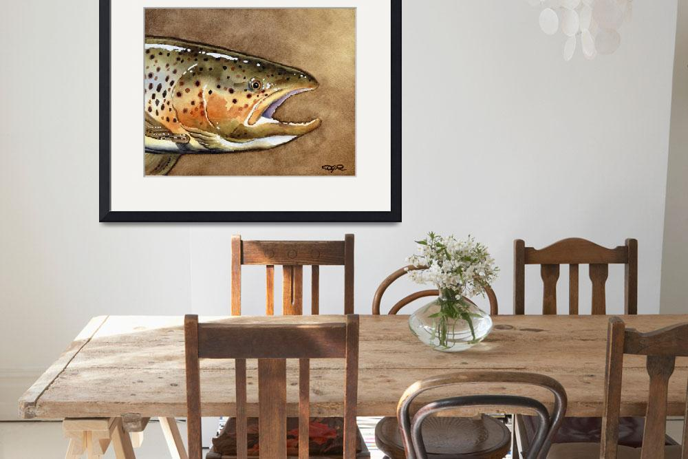 """""""Brown Trout&quot  (2015) by k9artgallery"""