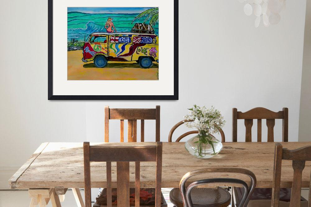 """""""surf art/vw bus&quot  (2015) by wgilroy"""
