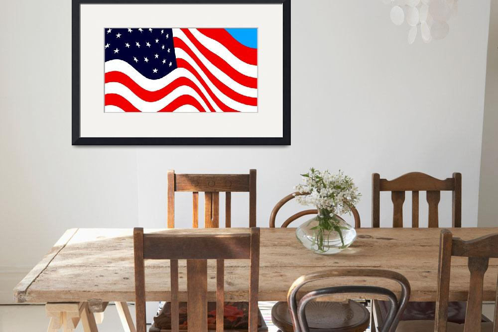 """""""American Flag Flying Cropped&quot  (2014) by TheNorthernTerritory"""